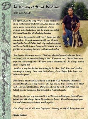 Protection Dog Training Memorial Image - Pro Canine Center